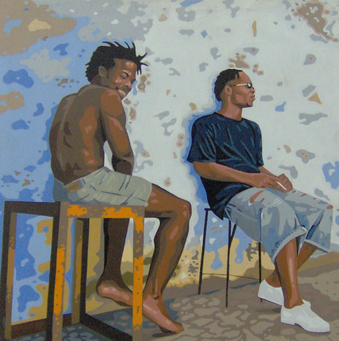 Sem Título. Homme Assis, 2005. Oil On Canvas