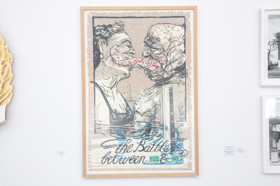 Battle between Yes and No_screenprint_1987_159x111cm