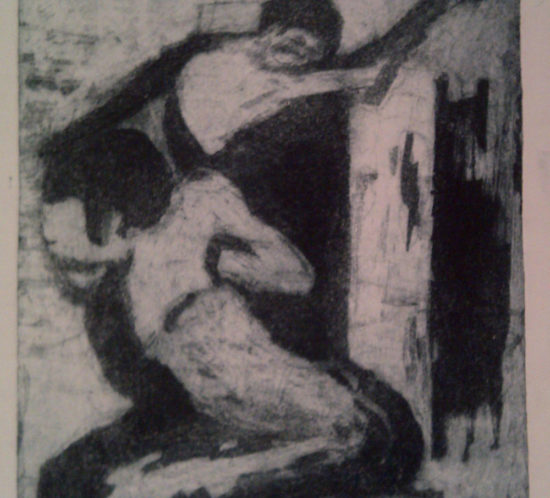 Composition. 1968. 39 x 30 cm. ETCHING