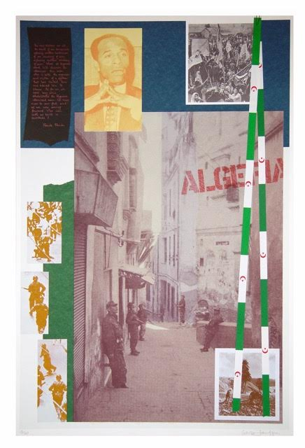 For Algeria (Franz Fanon)_Screen print with collage_1978_92x61,5cm