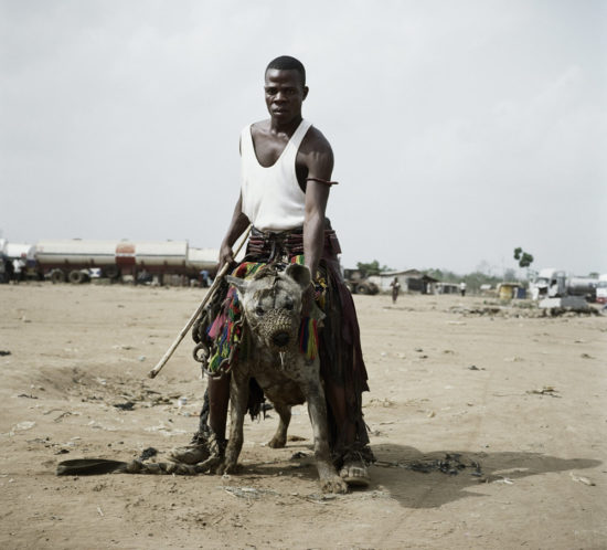 Jatto with Mainasara, Ogere-Remo, Nigeria. 2007. 110 x 112 cm. PHOTOGRAPH