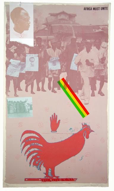 For Ghana (Kwame Nkruma)_Screen print with collage_1978_92x61,5cm